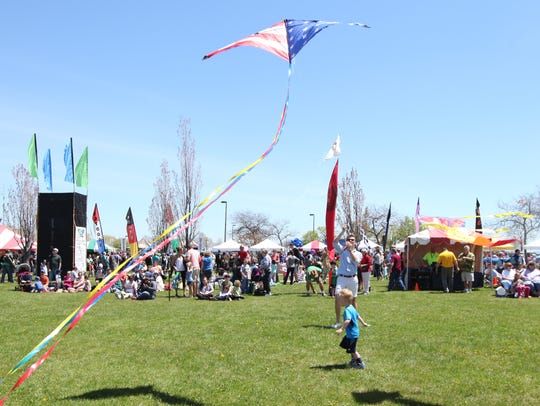 Flyers take to the air at the Family Kite Festival