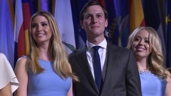 From left, Ivanka Trump, her husband Jared Kushner