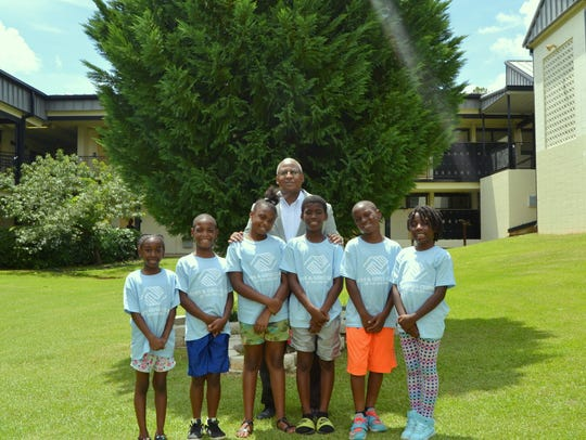Lee Wagner with members of the Boys & Girls Club of