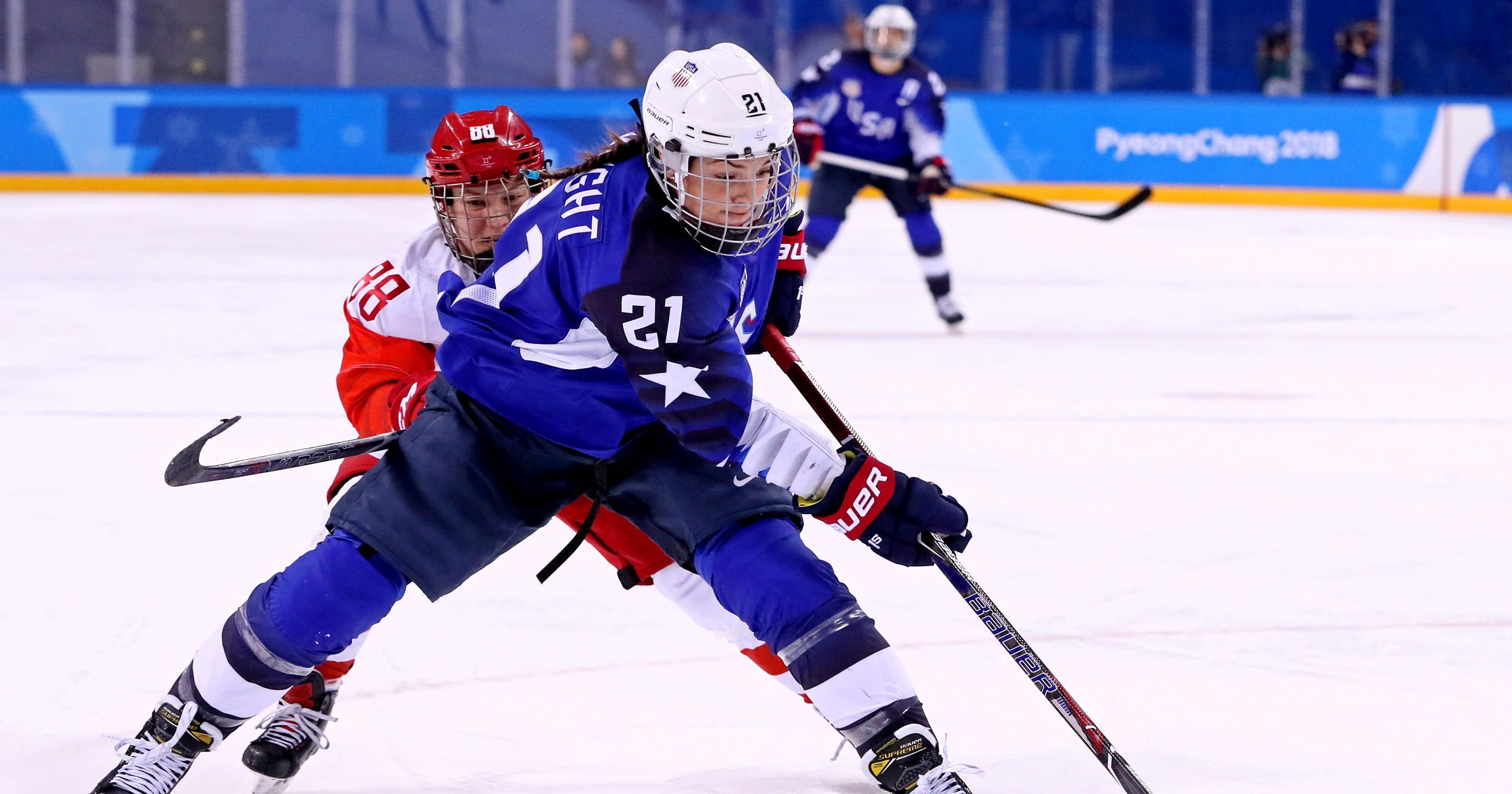1beeed744 Winter Olympics: Wisconsin has big influence in USA-Canada hockey game