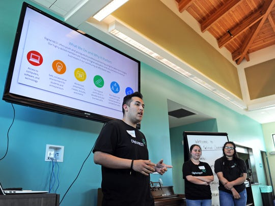 Members of the Watsonville Digital NEST team introduce some of the many programs the organization provides.