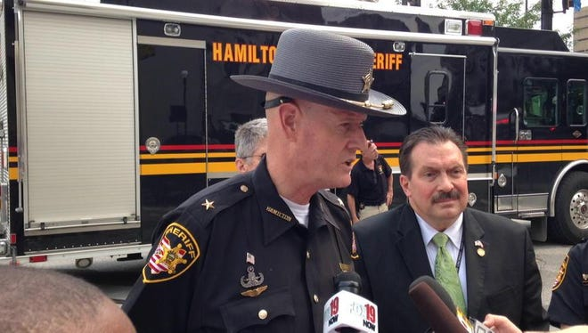 Hamilton County Sheriff Jim Neil says a perfume bottle shaped like a WWII grenade sparked the investigation that led to the all-day closure of the Hamilton County Courthouse on Tuesday.
