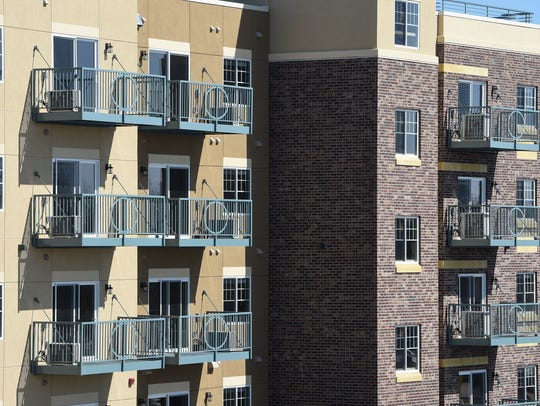 The new Mississippi Lofts apartments are pictured Thursday,