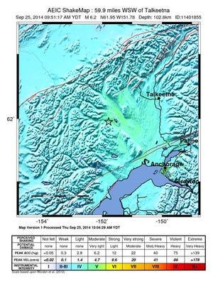 6.2 magnitude earthquake shakes Alaska.