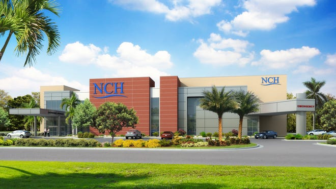 A rendering of NCH Healthcare Bonita, which is expected to open in December. This rendering shows the facility facing south.