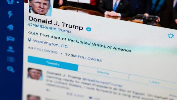 President Trump's tweeter feed.