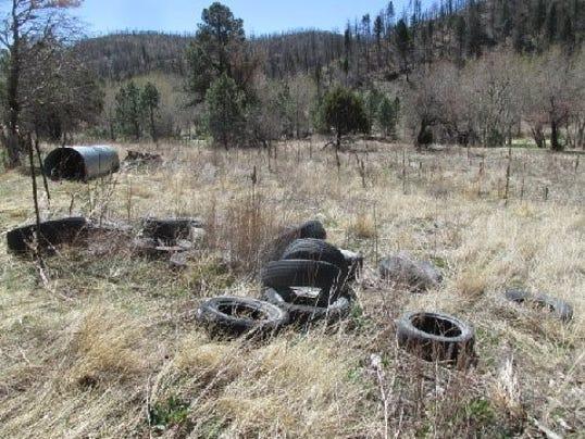 tires along bonito lake road