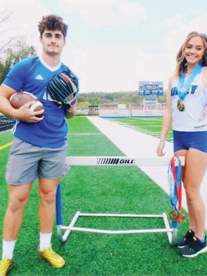 Broedy Boyce (left) and Tori Starcher (right) earn title of Ripley High's top athletes.