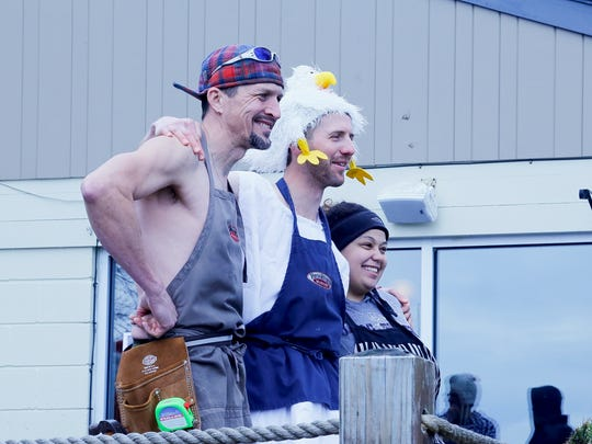 Paulus, Aaron and Nikki, of Brookton's Market, at the first-ever Ithaca Chill Challenge.