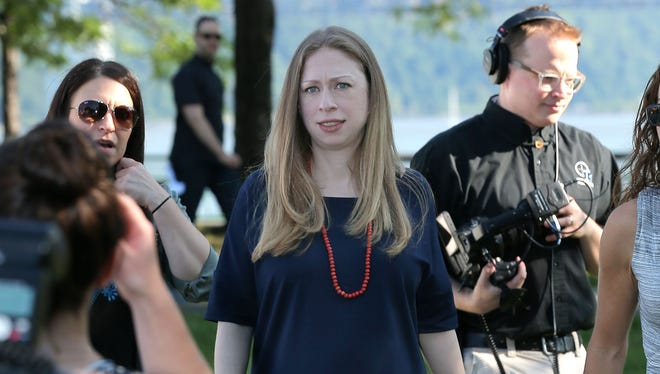 Chelsea Clinton attends the Pirate and Princess: Power of Doing Good Tour at Riverbank State Park during on July 25, 2014 in New York City.
