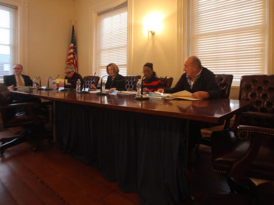New Castle City Council meets downtown in March.