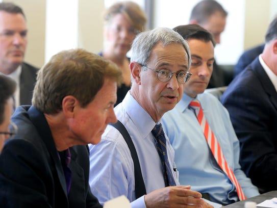 University of Rochester President Joel Seligman attends