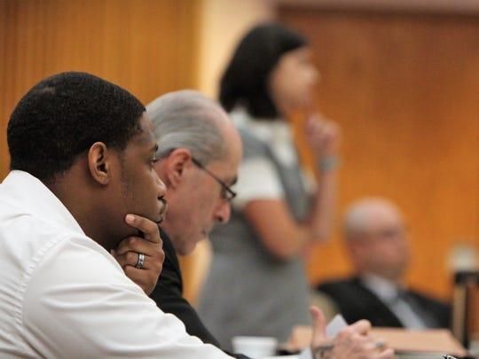 From left, Justin Jamal Warner, Atlanta attorney Bruce
