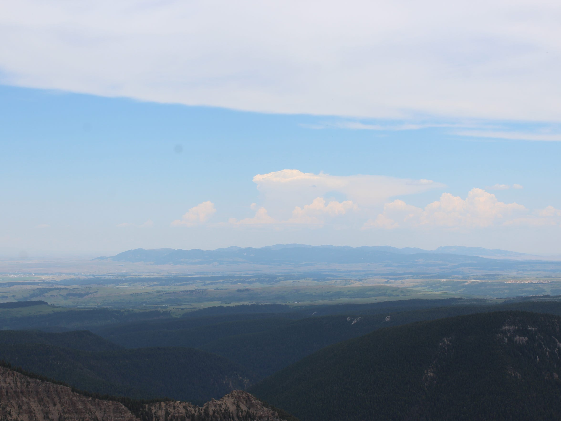 Mountain ranges that can be seen from the Big Snowies on a clear day: Absorkees, Crazies, Beartooths, Castles, Big Belts, Little Belts, Sweet Grass Hills, Highwoods, Square Butte, Bear Paws, Moccasins, Judiths and Little Rockies.