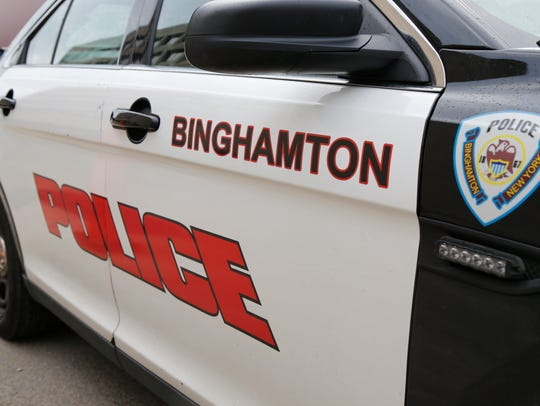 A City of Binghamton Police cruiser on Wednesday, September