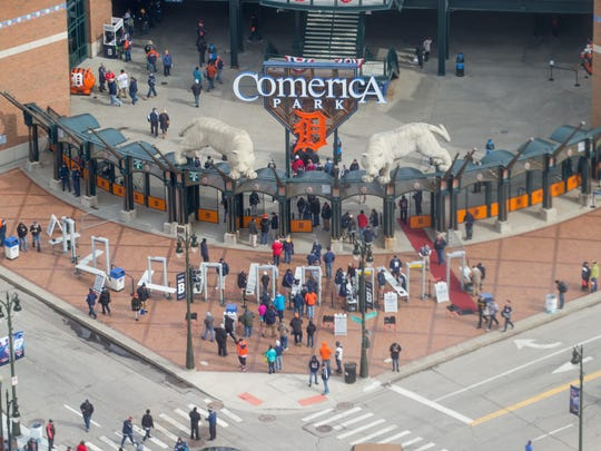 The gates at Comerica Park open for Opening Day 2018