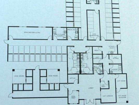 layout of new animal shelter