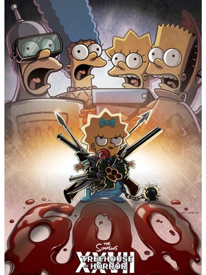 'The Simpsons' unveils the mini-poster for 'Treehouse of Horror XXVII,' which will mark the legendary cartoon's 600th episode.
