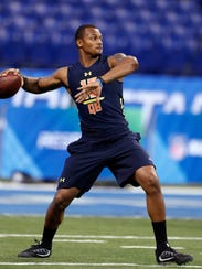 Clemson quarterback Deshaun Watson, who is on the Giants'