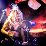 Ellie Goulding performs during the Bacardi Triangle event on November 1, 2014 in Fajardo, Puerto Rico.