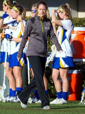 Delaware women's lacrosse coach Kateri Linville.