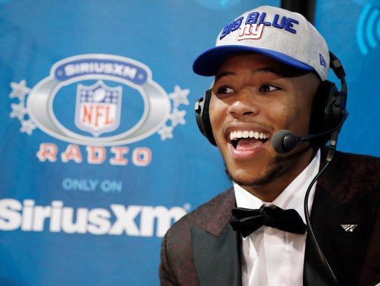 New York Giants draftee, running back Saquon Barkley