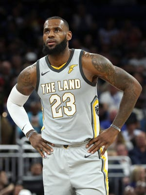 LeBron James during the second quarter at Amway Center.