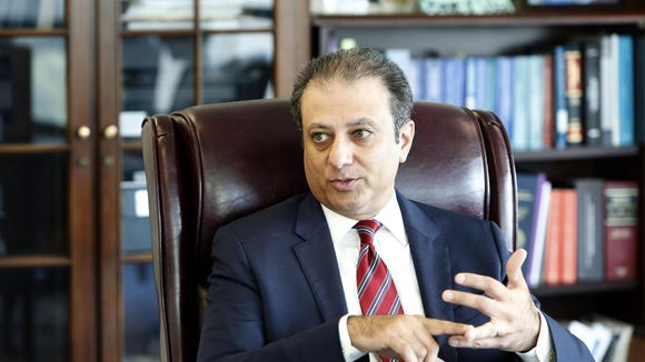 Preet Bharara, the U.S. Attorney for the Southern District of New York, in his Manhattan office last year.