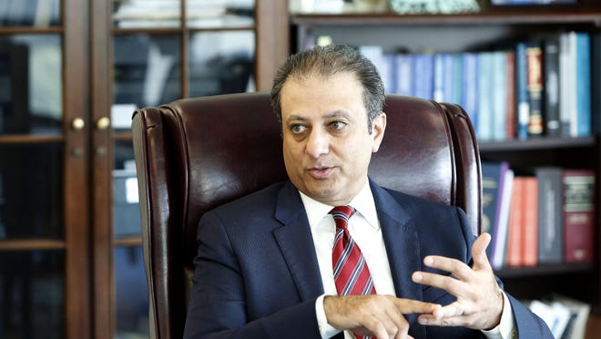 Preet Bharara, the U.S. Attorney for the Southern District of New York, in his office Sept. 8, 2015 in Manhattan.