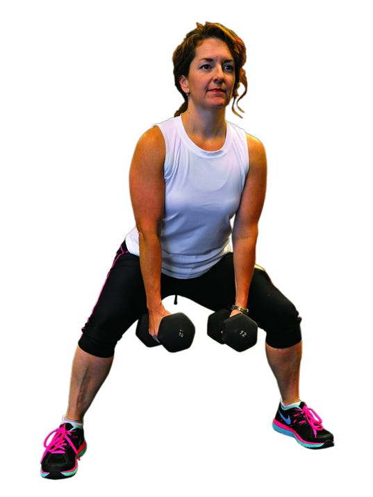 Sumo squats work your inner thighs along with glutes