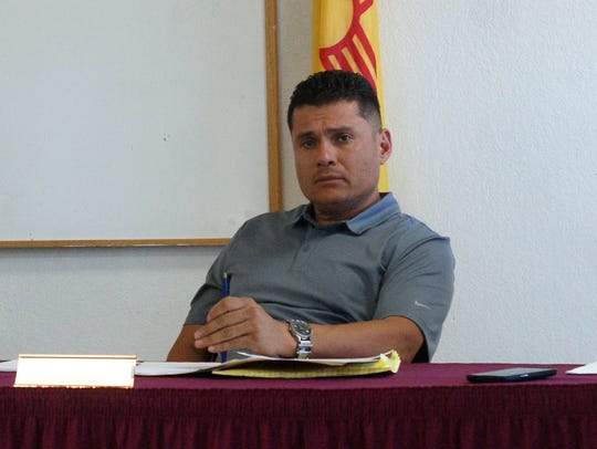 Columbus Trustee Paulino Villegas at the April 3 special