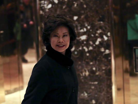 President-elect Donald Trump choses Elaine Chao for transportation secretary