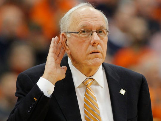 Syracuse head coach Jim Boeheim has heard all the cheers
