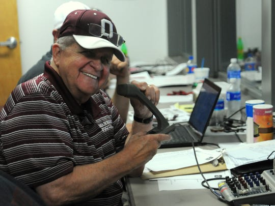 Carl Bartlett said that everyone has fun in the press box during Owen home games.