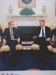Bill Goodling with president Bill Clinton.