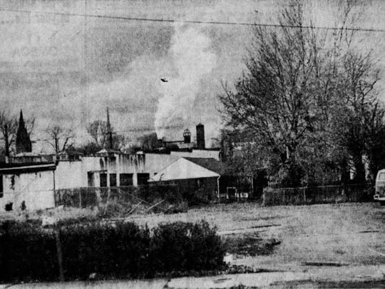 Geneva Foundry in 1971, just before the first pollution control device was installed.