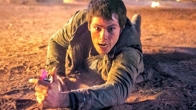 "Dylan O'Brien stars as Thomas in ""Maze Runner: Scorch Trials."""