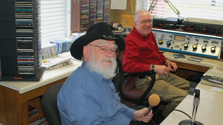 "George Clark (foreground) and Leon Edwards host ""The Shepherd's Hour"" on WQSV-AM."
