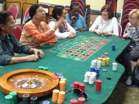 The South Brunswick Senior Center had the Travelling Poker Academy come to the center for Senior Center Month on Sept 14,allowing seniors to try their luck at slots, blackjack, poker and roulette. Chips were then exchanged for tickets and they won prizes.