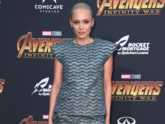 "Pom Klementieff arrives at the world premiere of ""Avengers:"