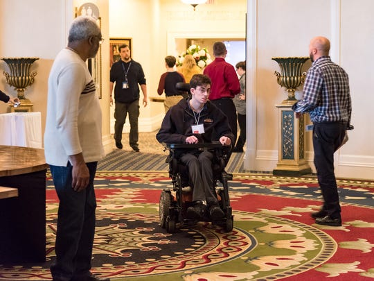 Local high school students with disabilities attend an all-day transition conference, focusing on their future career and employment goals as well as learning what's current in transition services for youth with disabilities in Delaware.