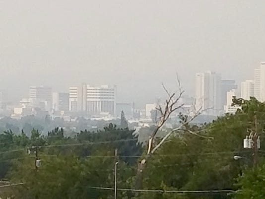 Wildfires pour haze over Reno