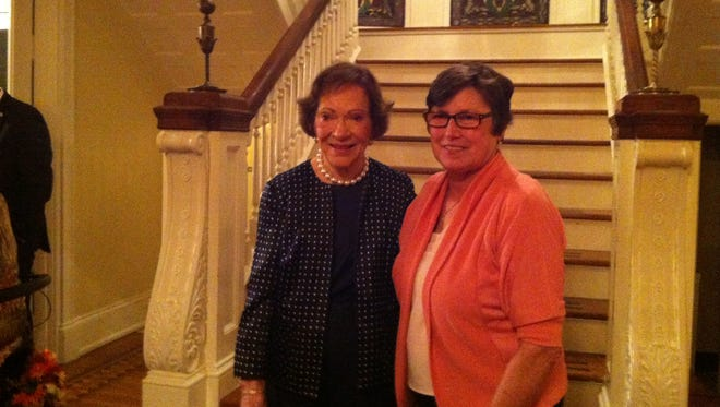 Liddy Diemel from MAC Inc. meets former first lady Rosalyn Carter at the recent Rosalyn Carter Institute for Caregiving's national summit.
