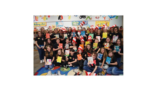 Delsea Regional Middle School Storytellers Club celebrated Read Across America at Janvier School on Feb. 24. They participated in a variety of fun, engaging classroom reading activities throughout the day.