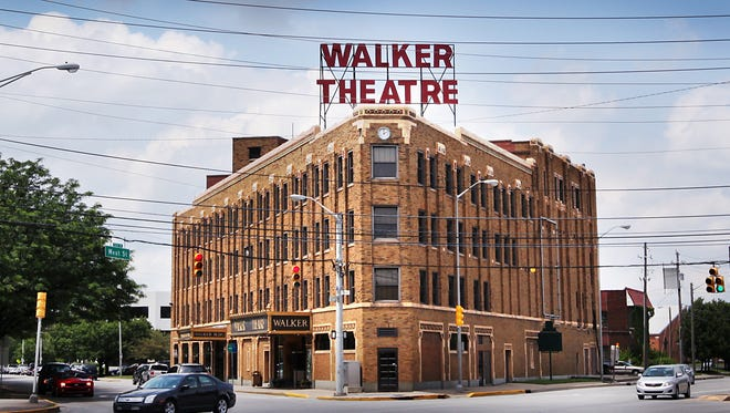 The historic Walker Theater on Indiana Avenue, shown here in 2013.