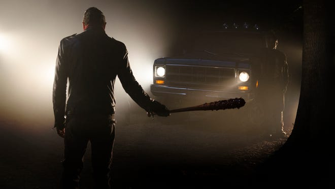 'Walking Dead' love story: Negan (Jeffrey Dean Morgan) and his barbed-wire-wrapped bat, Lucille, are inseparable on the hit AMC drama.