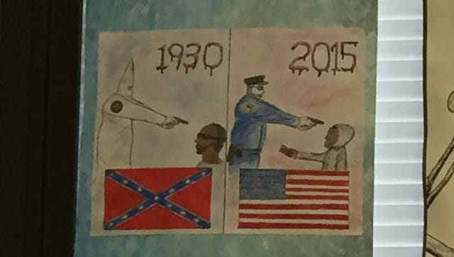 """A spokeswoman for Oldham County Schools said the drawing was submitted last year as part of an assignment connected to """"To Kill a Mockingbird."""""""