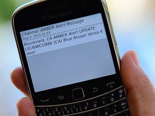 US-KIDNAPPING-AMBER-ALERT-CELLPHONE