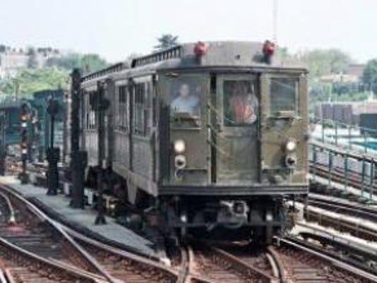 Vintage subway train