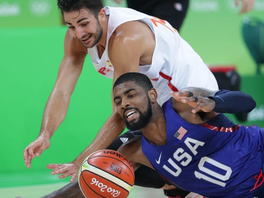 Photographing Kyrie Irving and the USA men's basketball team in Friday's semifinals was Dan Powers' final assignment of the Rio Olympics.